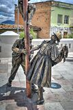 Greasy Pole Sculpture In Cuenca, Ecuador Stock Photo
