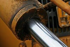 greasy skarvar för consructionutrustning Royaltyfria Foton