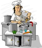 Greasy Spoon Cook vector illustration
