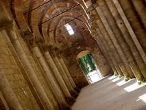 The great abbey of Saint Galgano - Tuscany Royalty Free Stock Photos