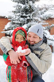 Great activity on snow Stock Photos