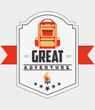 great adventure design Stock Photo