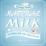 Great advertising milk Stock Photos