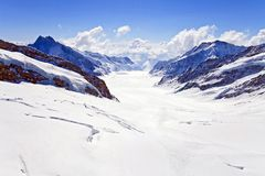 Great Aletsch Glacier Stock Images