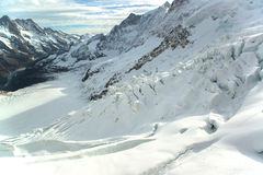 Great Aletsch Glacier Jungfrau region Stock Photos