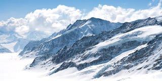 Great Aletsch Glacier Jungfrau Switzerland Stock Photography