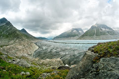 Great Aletsch Glacier Royalty Free Stock Photography