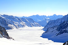Great Aletsch Glacier, Switzerland Stock Photos