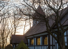 Great Altcar church at sunset Royalty Free Stock Image