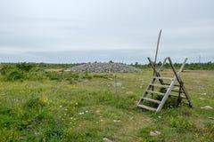 The Great Alvar on Baltic sea island Oland Royalty Free Stock Photo