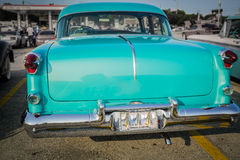 Great amazing rear view  of old classic vintage retro car Stock Images