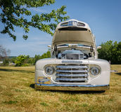 Great amazing view of old vintage classic pick up truck Stock Photo