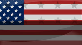 Great america creative flag background with stars Stock Photography