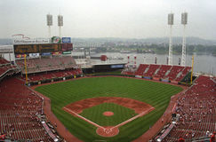 Great American Ball Park - Cincinnati. Cincinnati Reds ballpark on the Ohio River royalty free stock photography