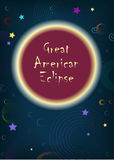Great American Eclipse royalty free stock images