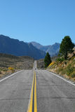 Great American road goes in desert Stock Image