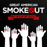 Great american smoke out Stock Images