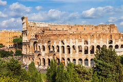 Great ancient Colosseum, Rome stock image