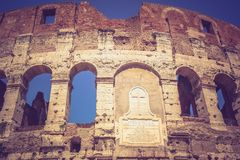 The great ancient Colosseum in Rome, Italy Stock Photos