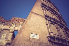 The great ancient Colosseum in Rome, Italy Royalty Free Stock Image