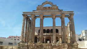 Great antique temple. Dianas roman temple in merida Stock Photo