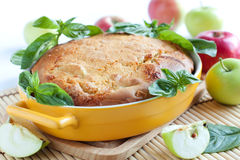 Great apple pie and fresh apple Stock Image