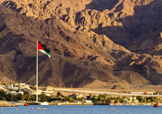 The Great Arab Revolt Flag, Aqaba, Jordan Royalty Free Stock Image