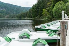 Great Arber lake, Bavaria, Germany, June 13, 2015: Boat rental on great Lake Arber, Bavaria - Germany.  Stock Image