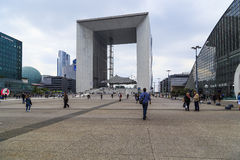Great Arch of La Defense royalty free stock photos