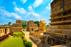 Great architecture of Hindu Temple dedicated to Shiva, fragment Royalty Free Stock Photos
