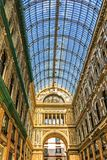 Great Architecture in Naples - Shopping Mall Galleria Umberto, Italy. NAPLES, ITALY-MARCH 23, 2018: Galleria Umberto I is a public shopping gallery. It is Royalty Free Stock Photography
