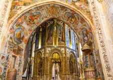 Sacred art in Tomar Castle. Great architecture at Tomar Castle built during 12th century by Templiers Order at Tomar, Portugal royalty free stock photography