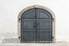 The great Arsenal storage tower door of the Salzburg Castle Royalty Free Stock Photos