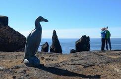 Great Auk sculpture, Reykjanes peninsula, Iceland royalty free stock photo