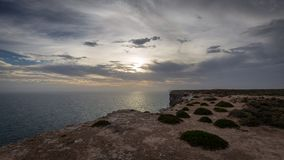 The Great Australian Bight on the Edge of the Nullarbor Plain Royalty Free Stock Images