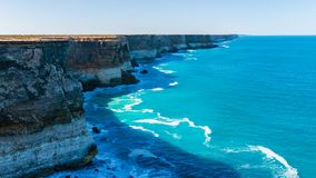 The Great Australian Bight - South Australia. The Great Australian Bight as seen from the edge of Australia. A view point in South Australia along the Nullarbor royalty free stock photography