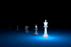 Great authority (chess metaphor). 3D render illustration. Free s. Career growth. Horizontal chess composition. Available in high-resolution and several sizes to Stock Images