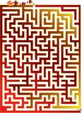 Great autumn maze. Vector illustration for autumn maze Royalty Free Stock Photo