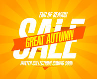 Great autumn sale design. Stock Photos