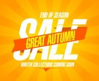 Great autumn sale design. Stock Photos