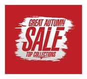 Great autumn sale, top collections, advertising banner design concept vector illustration
