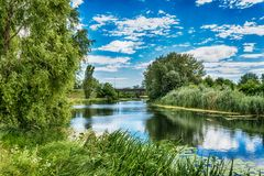 Great Backa Canal. From Serbia royalty free stock images