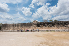 Great Ball Court for playing `pok-ta-pok` in Chichen Itza, Mexico Royalty Free Stock Images