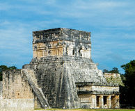 Great Ball Court and Temple of the Jaguars. The archaeological site is located in the municipality of Tinum, in the Mexican state of Yucatán. The Great Ball Royalty Free Stock Photography