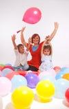 Great balloon party Stock Photo