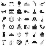 Great banquet icons set, simple style. Great banquet icons set. Simple style of 36 great banquet vector icons for web isolated on white background Royalty Free Stock Images