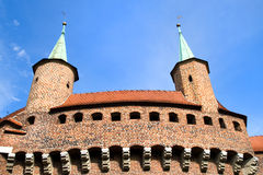 Great Barbican Monument in Cracow, Poland Stock Photography