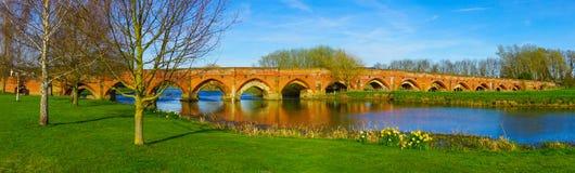 Great Barford Bridge royalty free stock image
