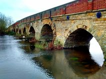 Great barford bridge over river ouse Stock Images
