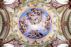 Great baroque interiors. In old historic abbey, Austria Royalty Free Stock Photos